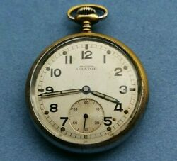 Rare Military Pocket Watch Orator Dh Swiss Made For The German Army Ww2 1940's