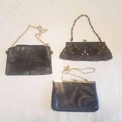Lot Of Vintage Purse clutch genuine leather fashion Express $20.98