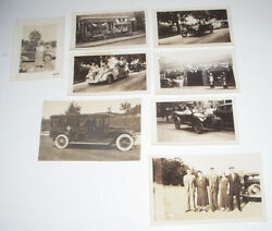 8 Antique Photos Cars July 4th Parade Flying A Gas Pumps Hires Root Beer Kodak
