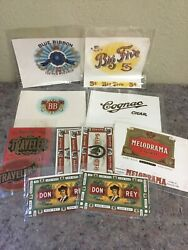 Mixed Lot Of Cigar Labels-don Rey-cognac-blue Ribbon-red Tip + More