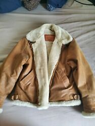 Genuine Leather Mens Winter Coat- XL- Brand New- New River- Beautiful