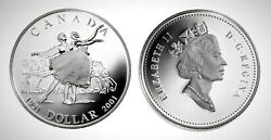 Canada 2001 National Ballet Proof Silver Dollar