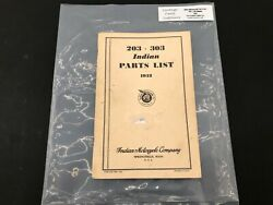 Indian Motorcycle 1932 202 303 Scout Chief Manual Book Parts List Harley P55