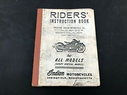 Indian 4 Motorcycle Riders Hand Book Scout Chief Manual Parts List Four Tow P56
