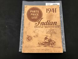 Indian Motorcycle 1941 45 Scout Dispatch Tow Chief 4 Four Manual Rider Part P65