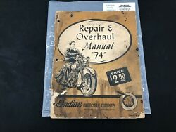 Indian Motorcycle 74 Repair Parts List Scout Chief 4 Four Manual Book P67
