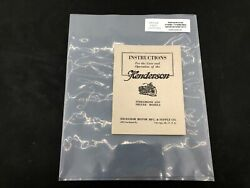 Henderson Deluxe Streamline Excelsior Harley Indian Operation Manual Four 4 P86