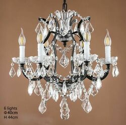 Loft Retro Vintage Big Crystal Chandeliers Lustre Modern Hanging Lamp E14 Lights