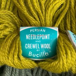 Huge Lot Of 75 Persian Needlepoint And Crewel Wool Yarn 40yds 3ply Many Colors