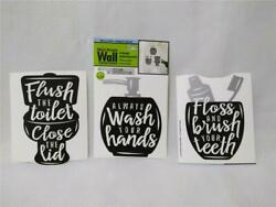 Cute Kids Bathroom Reminder Wall Decals*Peelamp;Stick*Removable*Translucent 5quot; tall