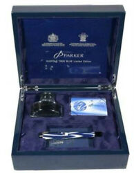 Parker Duofold Fountain Pen True Blue Limited Edition New In Box 2746/5000