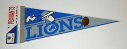 1980's Detroit Lions Pennant W/ Snoopy Rare Logo Still Carded