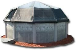 Oval Above Ground Swimming Pool Solar Screen Dome Pool Cover Panel Sun Dome