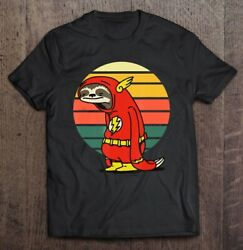 Funny Sloth The Flash Vintage T-Shirts Gift Tee size M-3XL US Men's Shirt Trend $9.99