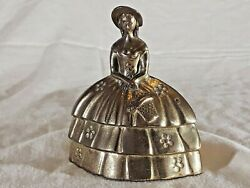 Vintage Brass Little Bo Peep Figural Bell, Nursery Rhyme Collectable, English