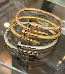 Premium High Quality Stainless Steel Nail Bracelet Or Love Set