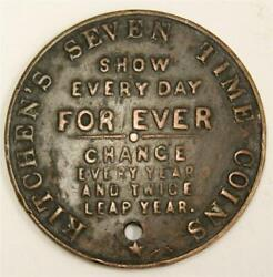 Kitchens Seven Times Coins American Store Business Card Token See 1898 Ref.