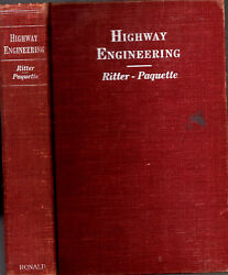 Rare 1951 Highway Engineering 1st With Folding Maps And Prints Illustrated Gift