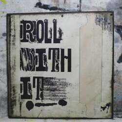 11 Roll With It Vintage Kitchen Farmhouse Pop Art Wood Vtg Style Sign