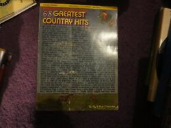 Vintage 1972 Mammoth Collection 68 Greatest Country Hits Vocal Piano Words H7