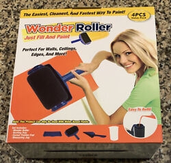 Wonder Roller Paint Roller Tray Pad Measuring Jug New 4 Piece Value Pack