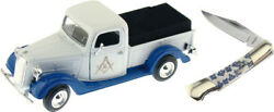 Frost Cutlery Masonic Model 1937 Pickup Truck 7.5 X 3 X 2.5 With Knife