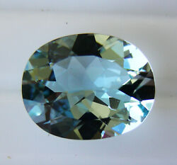 Natural 5.25ct Aquamarine Expertly Faceted In Germany +certificate Included