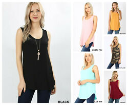 Womens Sleeveless T-Shirt Casual Basic Tunic TANK Top Long Loose Blouse S-3X $9.90