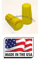 5000 Yellow Twist On Wire Connector Connection Nut 18-12 Gauge Barrel Screw Us