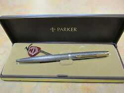 Parker 75 Sterling Silver And Gold Ballpoint Pen New In Original Box Made In Usa