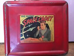 Vintage Lunch Boxes Metal With Thermos Space Cadet