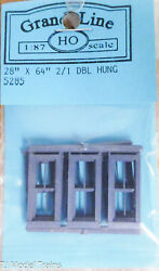 Grandt Line Ho 5285 Double Hung Windows -- 2-over-1, Scale 28 X 64 71.1 X 163c