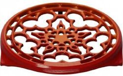 Le Creuset N0200-2 Enameled Cast-iron Deluxe Round Trivet 9-inch Flame