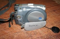 Used And Untested Sony Handycam Dcr-dvd201 Gray Camcorder For Parts/repairs Only