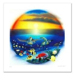 Sea Turtle Reef Limited Edition Giclee On Canvas By
