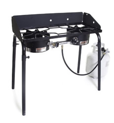 Camp Chef Explorer Double Burner Stove,3-sided Windscreen