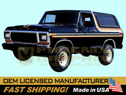 Compatible With1978 1979 Ford Bronco Xlt Truck Free Wheeling Decals Stripes Kit
