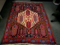 Vintage Middle Eastern Kurdish Rug 4and0398 X 6and0392