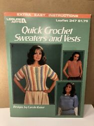 Quick Crochet Sweaters And Vests | Leisure Arts 347