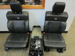 04-08 Ford F-150 Crew Harley-davidson Black Leather Frontandrear Seats W/ Console