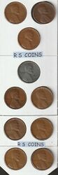 Lincoln Wheat Penny 10 Coin Set - 1940d To 1949d Denver Buy Multiple Sets