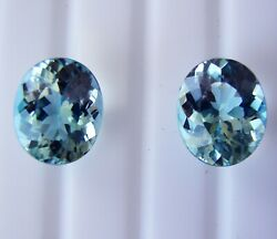8.06ct Aquamarines Matching Pair - Expertly Faceted In Germany +cert Available