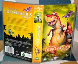 A Dinosaurs Story - We're Back- Vhs Video Tape Vintage Classic, Tape And Case.