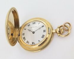 .vintage Chopard For And Co 18k Gold 28mm Pocket Fob Watch - Serviced