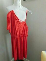 Pink Rose Size L Large Bare Shoulder Red SEXY Dress NWT $15.29