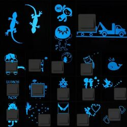 Light Switch Wall Sticker Kids Girl Bedroom Luminous Removable Decals Room Decor