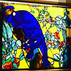 Original Stained Glass panel Designed And Created By Pegasus Lightjaquartechume