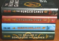 Lot 4 Hbdj The Hunger Games Trilogy By Suzanne Collins Mockingjay Songbirds L3