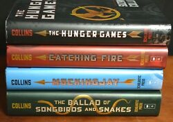 Lot 4 Hbdj The Hunger Games Trilogy By Suzanne Collins Mockingjay Songbirds L4