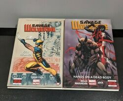 Savage Wolverine Marvel Now Hardcover Lot Volumes 1 And 2  New Unread